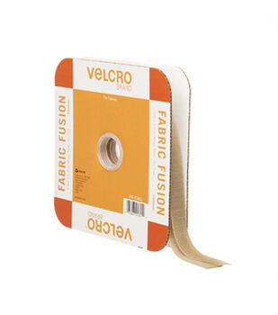 VELCRO Brand Iron On 3/4in Tape, Beige