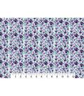 Premium Cotton Print Fabric 43\u0027\u0027-Purple Flower & Stems
