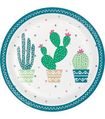 Cactus 8 pk 7''x7'' Dessert Plates-Cactus