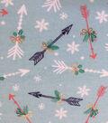 Doodles Christmas Cotton Fabric 57\u0022-Aqua Arrows