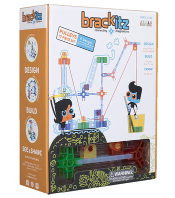 Brackitz Pulleys Building Set, 77 Pieces
