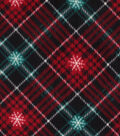 Anti-Pill Plush Fabric-Red, Black & Green Plaid