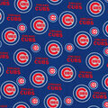 Chicago Cubs Cotton Fabric -Glitter