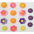 Favorite Findings 15 pk 0.75\u0027\u0027 Buttons-Flower Power