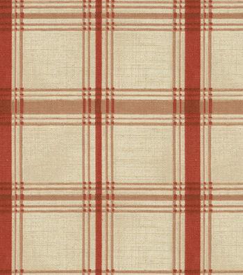 """Waverly Multi-Purpose Decor Fabric 54""""-Pantry Plaid Crimson"""