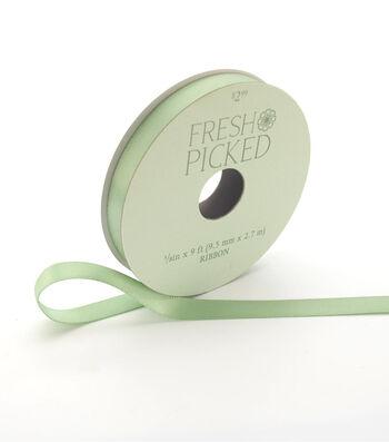 Fresh Picked Desert Aura Satin Ribbon 3/8''x9'-Green