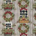 Christmas Cotton Fabric-Holiday Welcome Window