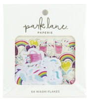 Park Lane Paperie 64 pk Washi Flakes-Unicorn, , hi-res