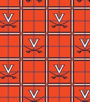 "University of Virginia Cavaliers Flannel Fabric 42""-Plaid, , hi-res"