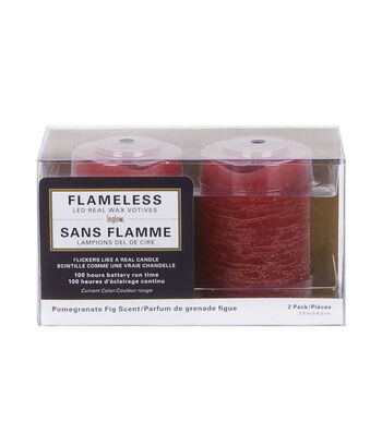 Inglow 2 Pack Red Votives Flameless