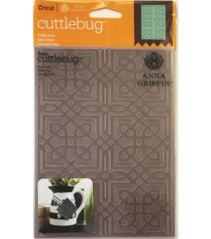 Cricut Cuttlebug Anna Griffin Celtic Link 5x7 Embossing Folder