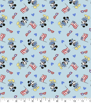 Disney Minnie Mouse Cotton Fabric-Flag Toss