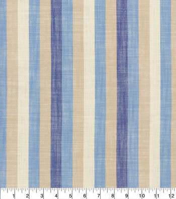 Ellen DeGeneres Multi-Purpose Decor Fabric 54''-Indigo Doheny Stripe