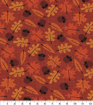 Harvest Cotton Fabric-Harvest Leaf