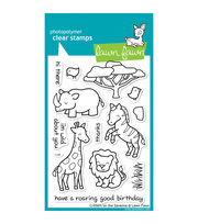 "Lawn Fawn Clear Stamps 4""X6""-Critters On The Savanna, , hi-res"