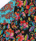 Double Faced Quilt Fabric 42\u0027\u0027-Rainbow Floral