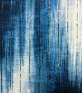 Knit Prints Rayon Spandex Fabric-Blue Gold Stripe