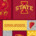 Iowa State Cyclones Fleece Fabric-College Patch
