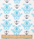Nautical Cotton Fabric-Octopus Anchor