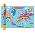 Round World Products 2 pk 24\u0027\u0027x36\u0027\u0027 Kid\u0027s World Wall Maps