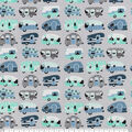 Snuggle Flannel Fabric-Camping on Gray