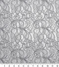 Apparel Lace Fabric 57\u0022-Two Tone Gray