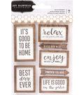 Pebbles Patio Party 7 pk Wood Veneer Layered Printed Stickers