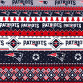 New England Patriots Christmas Flannel Fabric-Winter