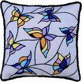 RIOLIS Cushion Stamped Cross Stitch Kit 13\u0022X13\u0022-Butterflies (10 Count)