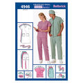 Butterick Pattern B4946 Adult Scrubs Uniforms-Size XS-S-M