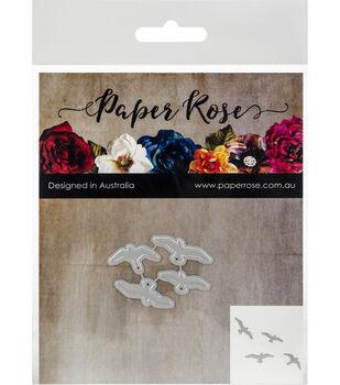 Paper Rose 4 pk Metal Dies-Flying Birds