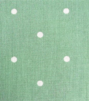 Cotton Shirting Fabric 57''-White Dots on Green