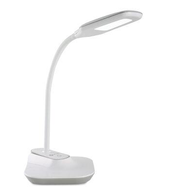 OttLite LED Flexible Clip Desk Lamp-White