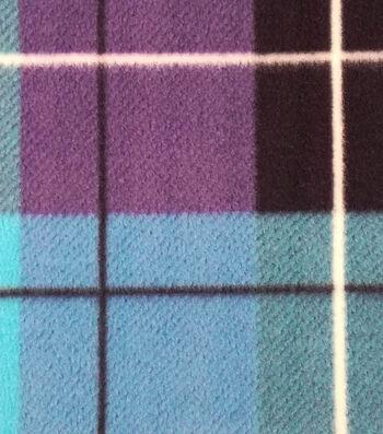 "3 Yard Pre-Cut Anti-Pill Fleece Fabric 59""-Hensley Plaid Blue"