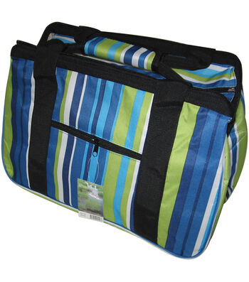 "JanetBasket Blue Stripes Eco Bag-18"" x 10"" x 12"""