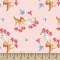 Disney Bambi Cotton Fabric-Bambi Friends Floral