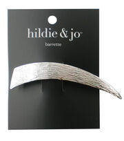 hildie & jo Triangle Silver Textured Barrette, , hi-res