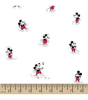 Disney Mickey Mouse Cotton Fabric-Tossed