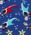 Blizzard Fleece Fabric 59\u0022-Sharks With Shades