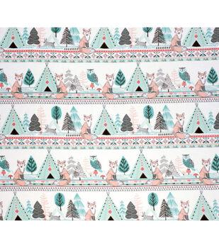 Nursery Flannel Fabric-Arrows, Fox and Owl
