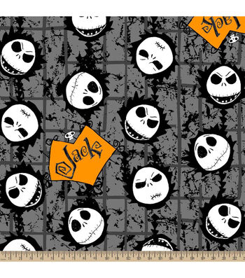 Halloween Fleece Fabric-Nightmare Before Christmas Jack