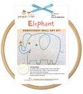 Elephant Hand Embroidery Wall Art Kit