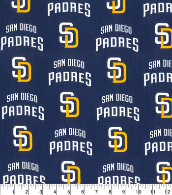 "San Diego Padres Cotton Fabric 58""-Logo"