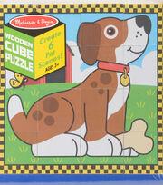 Melissa & Doug Wooden Cube Puzzle-Pet, , hi-res