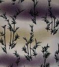 Premium Cotton Print Fabric -Bamboo Garden on Purple, Beige & White
