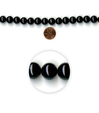 Blue Moon Strung Mountain Jade Beads,Round,Black