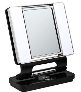 OttLite Lighting 26 W Natural Makeup Mirror-Black