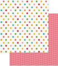 Summer Bucket List Double-Sided Cardstock 12\u0022X12\u0022-Beach Balls