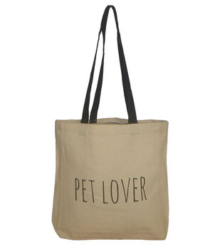 Canvas Tote 16.5''x14.9''-Pet Lover