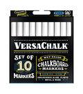 VersaChalk Fine Liquid Chalk Markers 10/Pkg-White